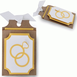 layered wedding rings gift card tag