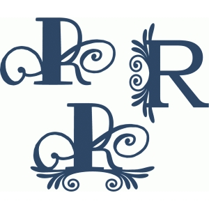 flourish monogram set - r