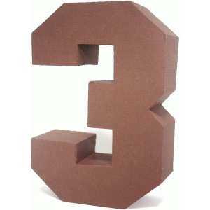 3d square number block 3
