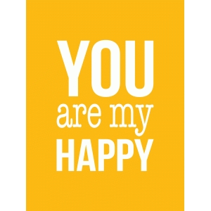 you are my happy 3x4 quote card