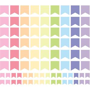 pastel planner flags