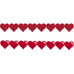 heart valentines day borders