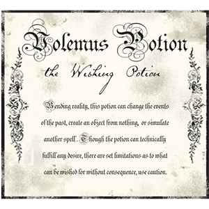 wishing potion label
