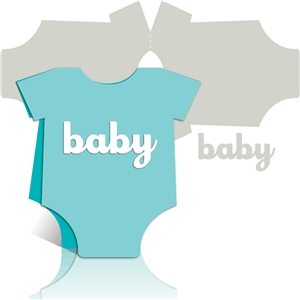 baby onesie card kit