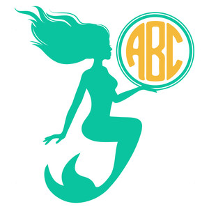 round mermaid monogram