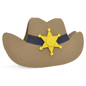 sheriff hat card