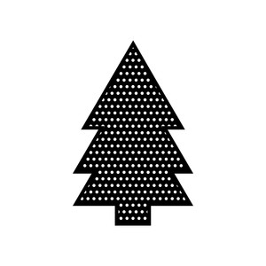 polkadot christmas tree