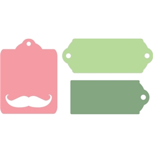 mustache gift tags