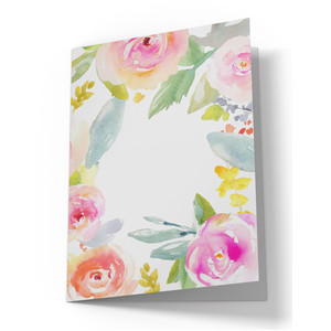 cute watercolor flower folding card