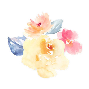 cute watercolor flower bouquet