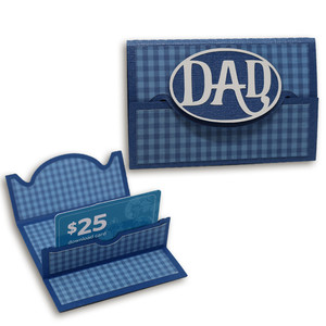 dad gift card holder