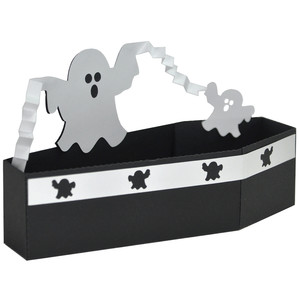 halloween coffin ghost treat box