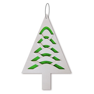 'fold and tuck' tree ornament