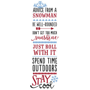 advice from a snowman phrase
