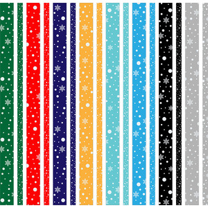 snowy washi strips