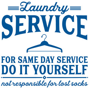 laundry service sign
