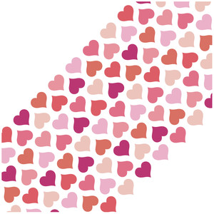 hearts diagonal background