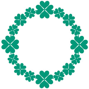 lucky clover circle frame