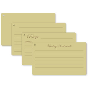cards index flip cards recipe sentiments