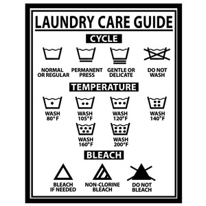 laundry care guide