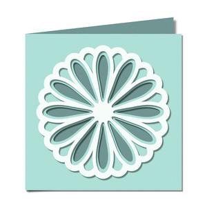 flower layered cutout card