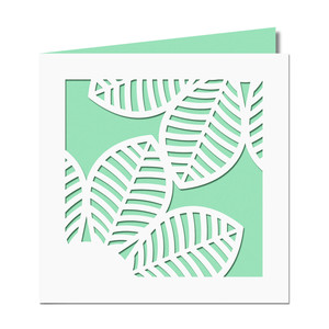leaves cutout card