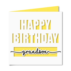 happy birthday grandson card