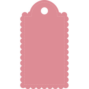 stitched scalloped tag