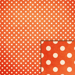 halloween orange polka dot background paper