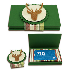 gift card box with deer