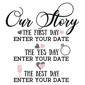 our story - wedding template