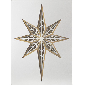 5x7 christmas star layer card