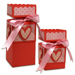 set of 2 valentine boxes