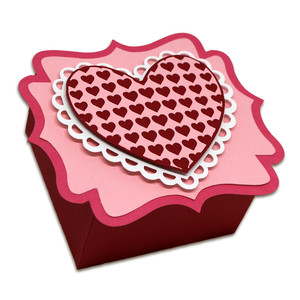 layered heart favor box