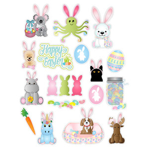 easter critters planner stickers