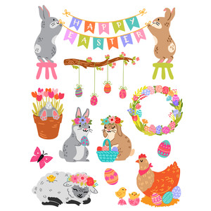 welcome spring easter stickers