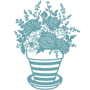 romantic floral plant pot