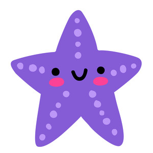 kawaii starfish