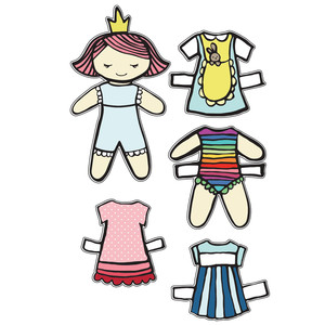 princess ava paper doll set