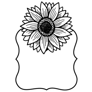 sunflower fancy label frame