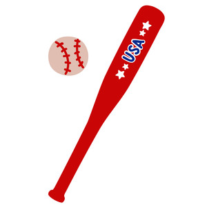 usa baseball bat and ball