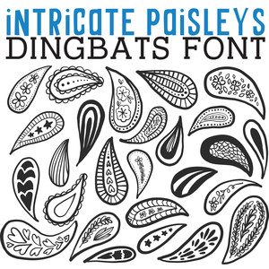 cg intricate paisleys dingbats
