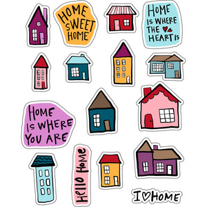 ml home sweet home stickers