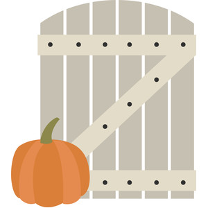 gate with pumpkin