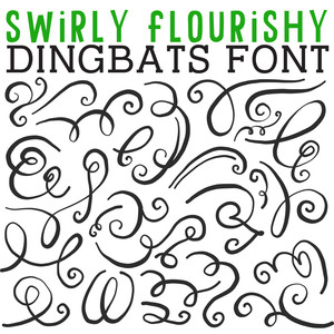 cg swirly flourishy dingbats