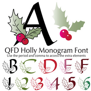 qfd holly monogram font