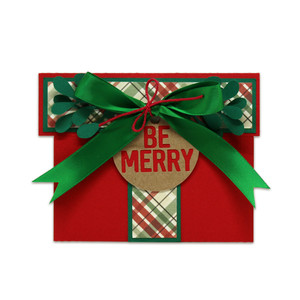 be merry present gift card holder