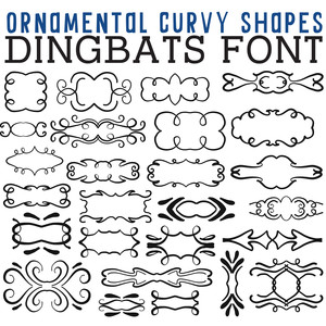 cg ornamental curvy shapes dingbats