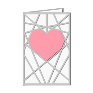 mesh heart cut out card
