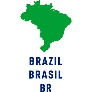 brazil country outline